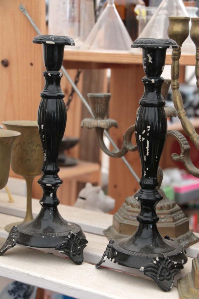Kerzenständer Flohmarkt schwarz