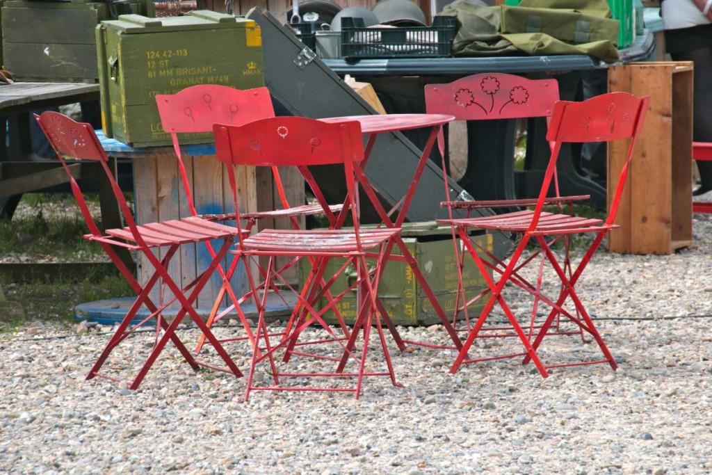 Stuhlgruppe rot